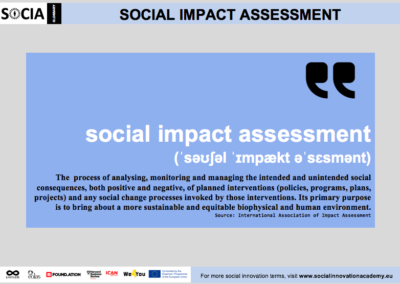 Social impact assessment definition