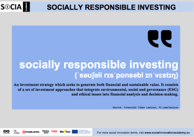 Socially responsible investing definition