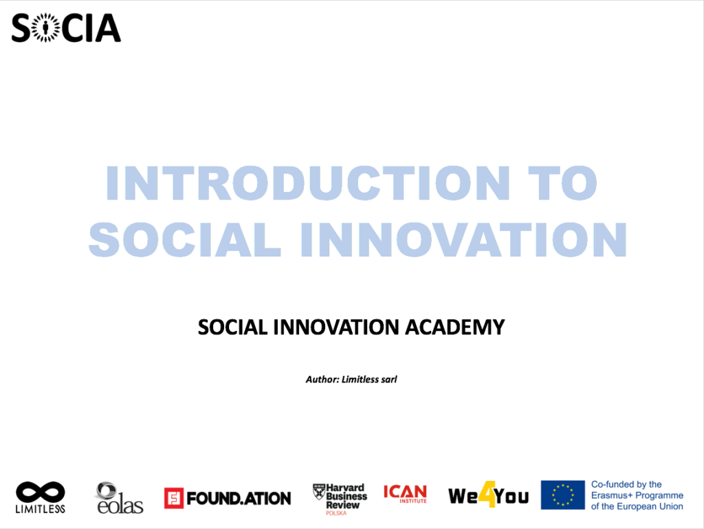 Introduction to Social Innovation by Social Innovation Academy