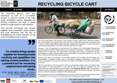 Recycling Bicycle Cart
