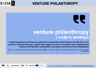 Venture philanthropy definition